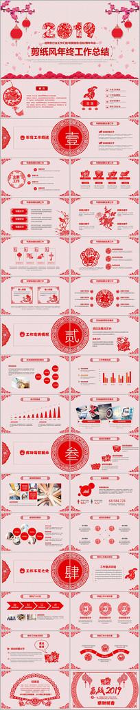 中国风喜庆剪纸风格2019年PPT