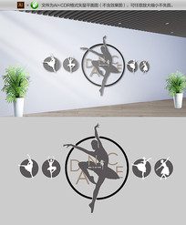 创意动感舞蹈室文化墙
