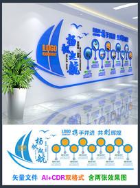 大气公司发展历程文化墙