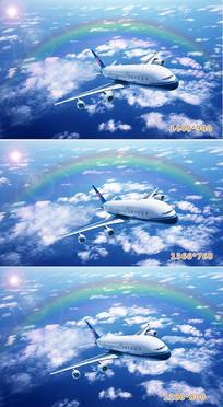 飞机风景壁纸设计