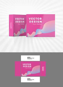 粉色曲线包装盒设计