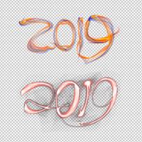 光线创意2019字体设计
