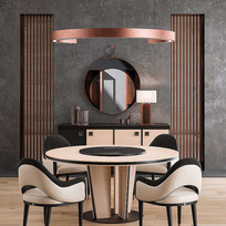后现代圆形餐桌椅