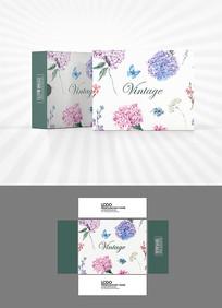 花朵图案背景包装设计