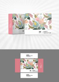 花卉背景包装盒设计