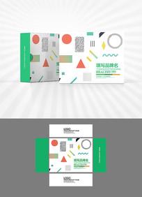 几何科技背景图包装设计