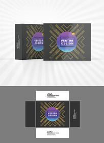 金色高端包装盒设计