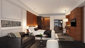 酒店主题客房室内效果图