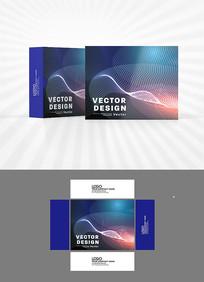 科技背景包装盒设计
