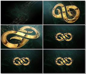 立体黄金LOGO演绎