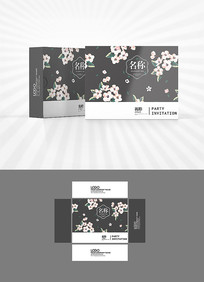 梅花樱花背景包装设计