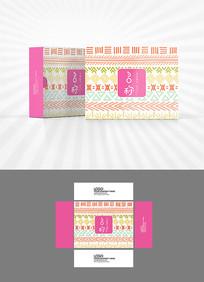 民族风背景图案包装盒设计