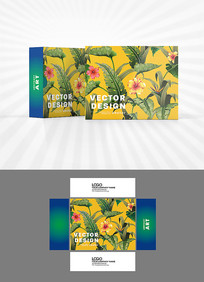 欧美风格植物包装设计