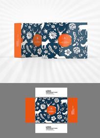 森系动物背景包装设计