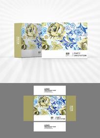手绘花朵包装盒设计