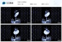 水晶黑天鹅舞台背景视频素材