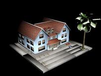 一棟小別墅房子