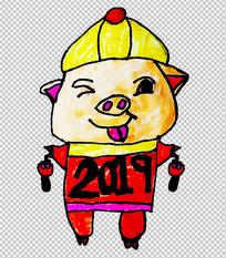 原创卡通猪年PNG素材