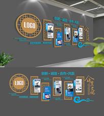 中式企业文化墙布置