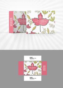枫叶图案背景包装设计