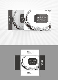 黑白元素包装盒设计
