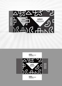 黑色三角图案背景包装盒设计