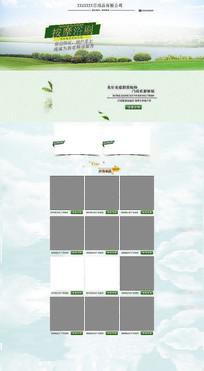 简约绿色生活电器家用刷子首页模板
