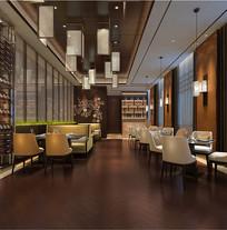 酒店餐厅室内设计效果图