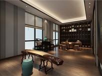 酒店茶室装修效果图 JPG