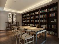 酒店书阅览室效果图