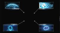 科技框文字照片指引模版