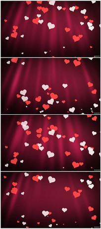 情人节爱心背景视频