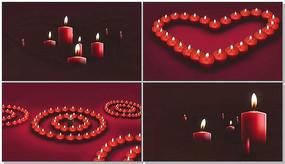 温馨红蜡烛感恩的心视频