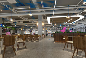 学生食堂装修设计效果图
