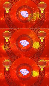 猪年春节背景视频