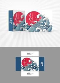 朝阳海浪古典包装盒设计