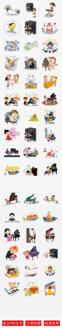 钢琴培训招生音乐音符琴键素材
