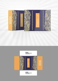 高档金色图案背景包装设计