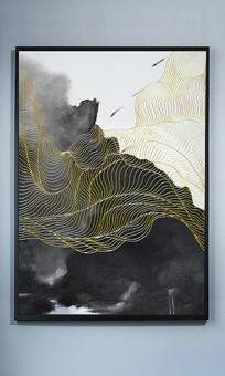 高清立体抽象油画艺术玄关