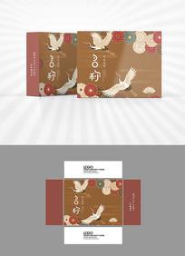 古典仙鹤图案包装设计