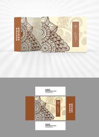 古典装饰图案包装盒设计
