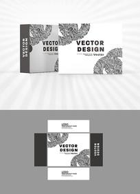 黑白装饰图案包装设计