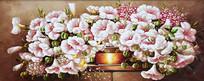 花开富贵鲜花油画图