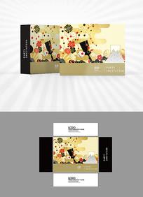 金色樱花包装盒设计