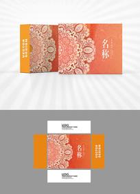 金色装饰图案包装盒设计