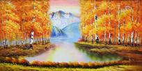 聚宝盆风景油画背景墙