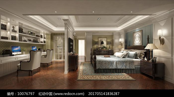 欧式别墅卧室设计模型图片