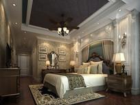 欧式混搭风卧室3D模型