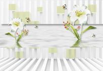 清新淡色现代背景墙设计