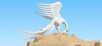 神兽西莫尔雕塑SU模型 skp